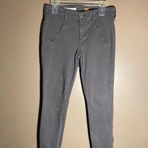 Pilcro letterpress fit serif zipper grey jeans 29